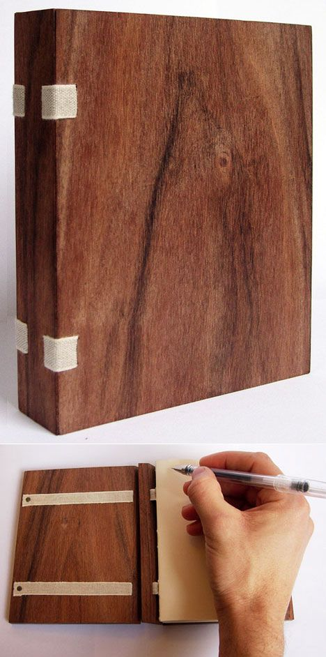 wooden book, clever connection