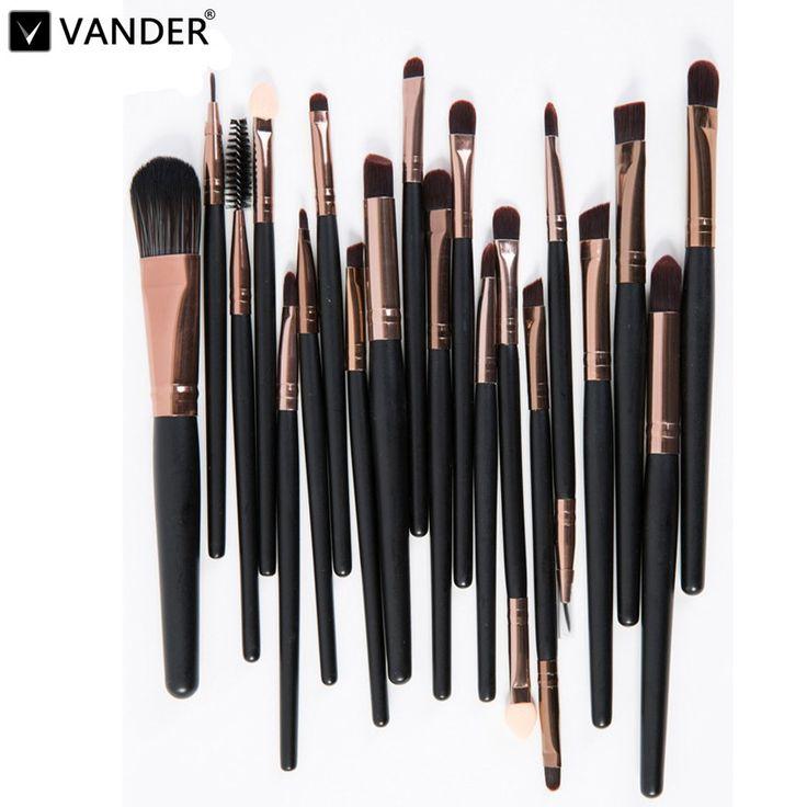 Vander Profesional 20 unids Cepillos Del Maquillaje En Polvo Fundación Pincel Sombra de Ojos Eyeliner Lápiz Labial Cosméticos Kits Pincel maquiagem