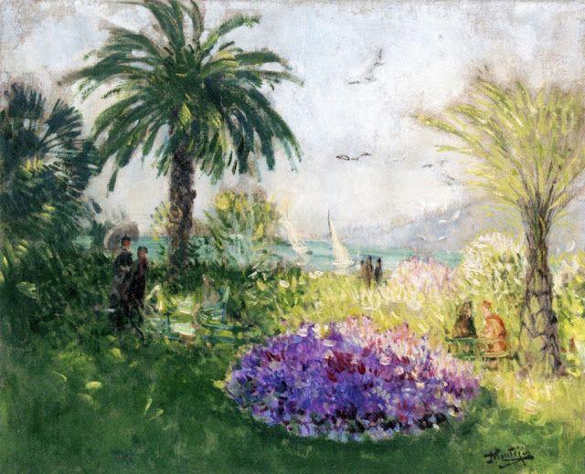 Cannes, la croisette - Pierre-Eugene Montezin (1874-1946)