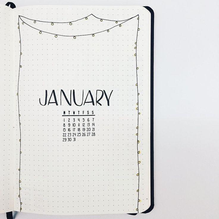 Mi January cover! ⠀ Mi portada de Enero!⠀ ...⠀ #bujo #bulletjournal #January #monthlycover