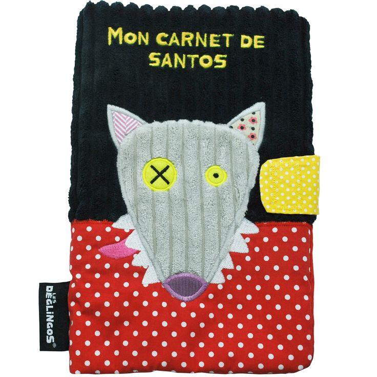 Un protège carnet de santé Bigbos le Loup de la marque Les Déglingos, aux couleurs vives, pour ne plus rien oublier concernant la santé de bébé.