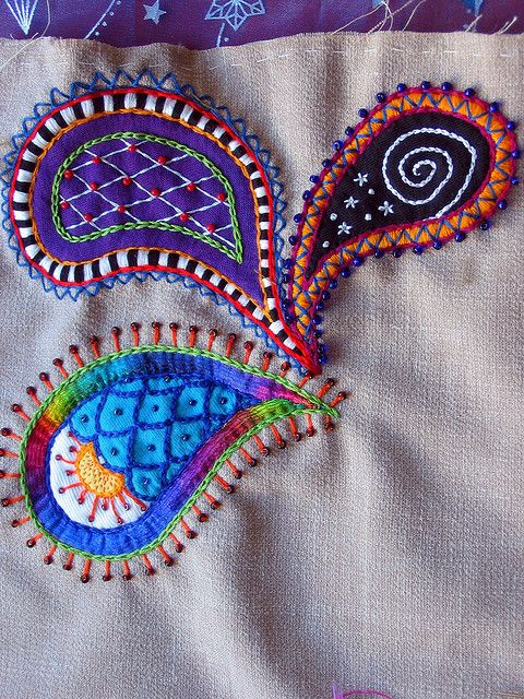 embroidery - paisley