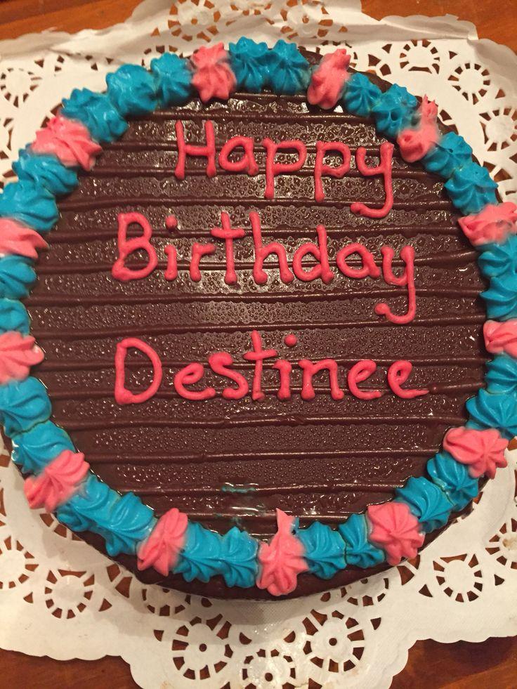 Destinee birthday cake.