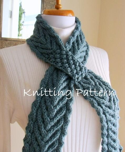 Ascot Scarf Knitting Pattern : Ascot Cable Neckwarmer Scarflette Cable, Accessories and Knitting