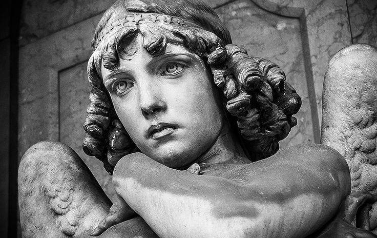 The Monteverde Angel, One Of The Most Striking Sculptures In The Cimitero  Monumentale Di Staglieno.