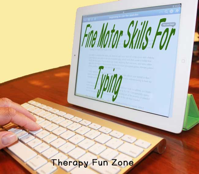 When a child has difficulty with handwriting or can't keep up in class, many people jump to the statement that they can just type instead. But can they? There are a lot of fine motor skills that go into typing, and it takes years to master the skill to be able to type with more speed than it takes to write, so is typing really the answer? Let's take a look at what fine motor skills are required to type.  {Read More}