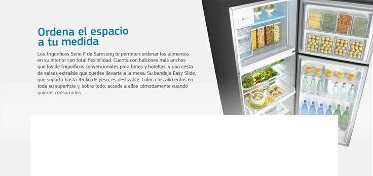 Fácil organización Nevera Samsung cómoda para organización con bandejas extraíbles, etc.