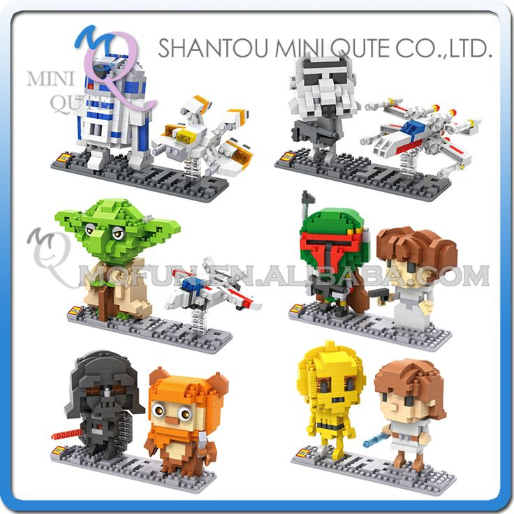 Mini Qute LOZ Star War R2D2 robot Yoda X-Wing Starfighter Darth Vader plastic action figures building blocks educational toy #>=#>=#>=#>=#> Click on the pin to check out discount price, color, size, shipping, etc. Save and like it!