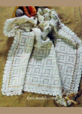 Детское одеяло связанное крючком