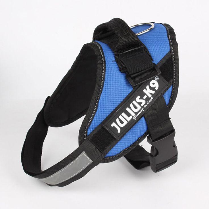 Upgrade ReflectiveNylon Large Big DogHarness Vest JULIUS K9 Glow Dog Collar Comfortable Harness Perros Honden Harnas Harnais Chien (3)