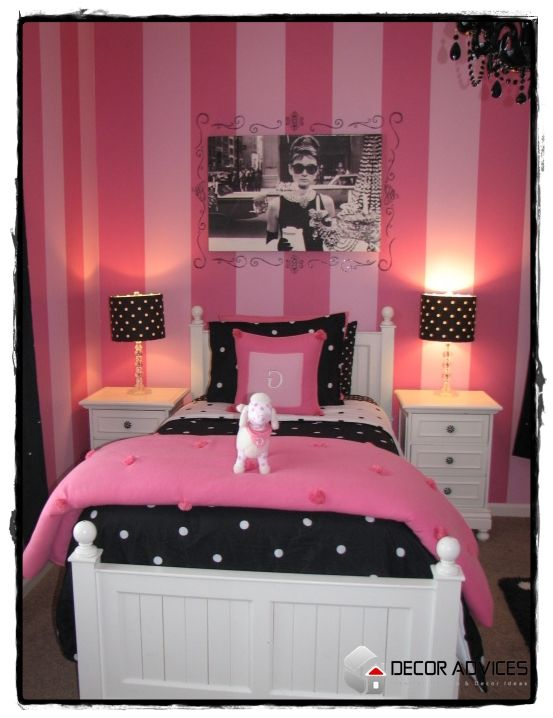 Pink And Black Barbie Theme For Her Bedroom Teen Room