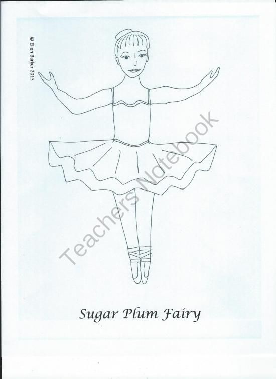 Nutcracker Character Drawings from Miss Barker's Musical Materials on TeachersNotebook.com (10 pages)  - Print out this set of characters from the Nutcracker, then use them on your bulletin board, or cut out and glue them on popsicle sticks & use as stick puppets! They are black and white line drawings, so you or students can color them in if you wish.