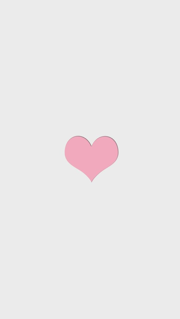 Minimal grey pink heart iphone phone wallpaper background lock screen