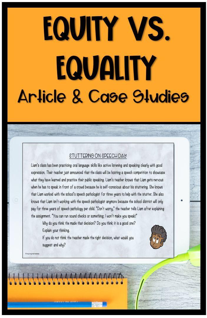 Equity Vs Equality Social Studies Elementary Social Studies Middle School Canadian Social Studies