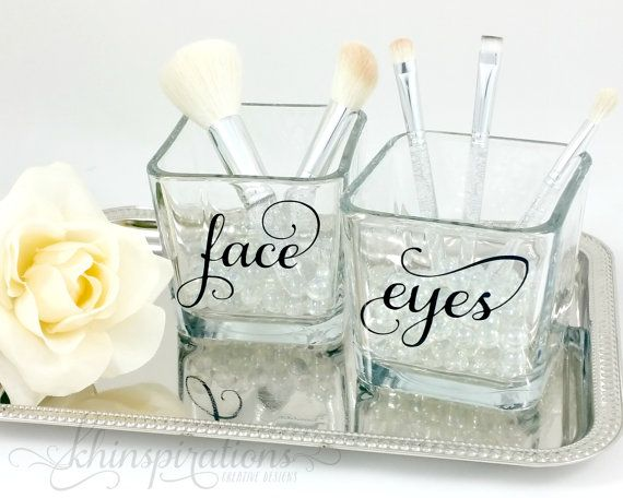 Contemporary Chic Makeup Brush Holder - Makeup Organize - Makeup Vanity - Makeup - Make up Organize - Face and Eyes - Make up Brush Holder