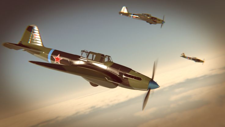Il-2 Sturmovik Render: Blender Cycles
