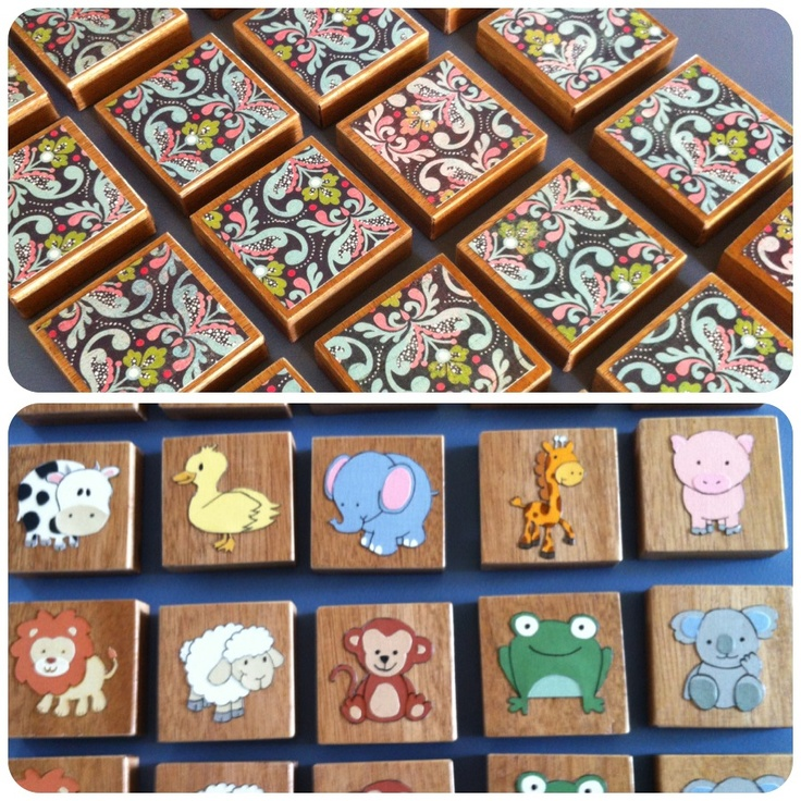 Wooden memory game. Took ages, but worth the effort I think!