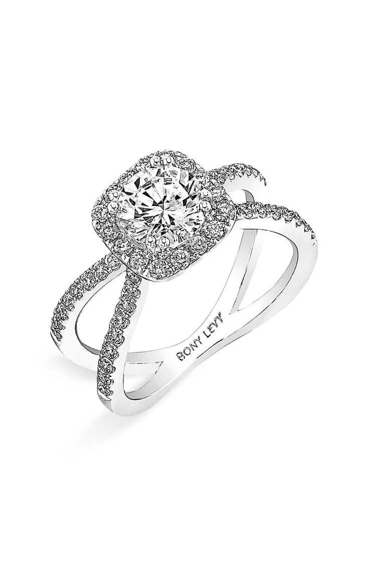 Women's Bony Levy Crisscross Pave Diamond Engagement Ring Setting  (nordstrom Exclusive)
