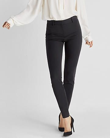 high waisted stretch skinny pant