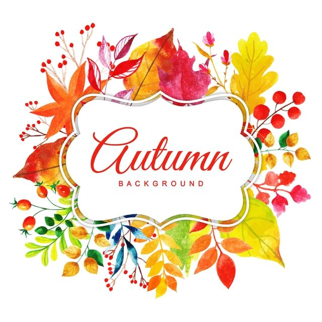 Beautiful Watercolor Autumn Leaves Frame Watercolor Paint Frame Png And Vector With Transparent Background For Free Download Watercolor Autumn Leaves Background Vintage Drawing Frames