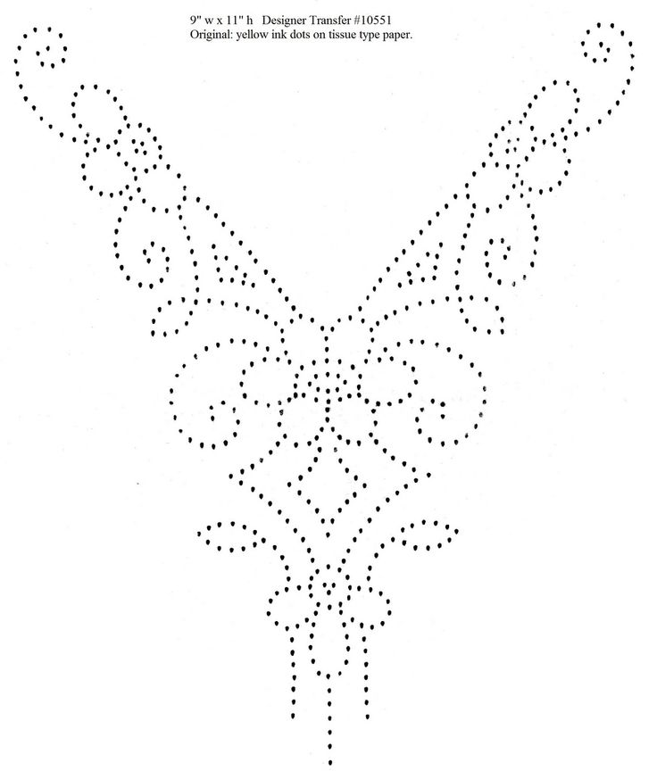 """Design is 9"""" w x 11"""" h. According to the envelope these designs were meant to be used in beading or French Knot embroidery."""
