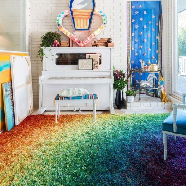 Stella Rainbow Shag Rug (5'2 x 7'7)   Overstock.com Shopping - The Best Deals on 5x8 - 6x9 Rugs