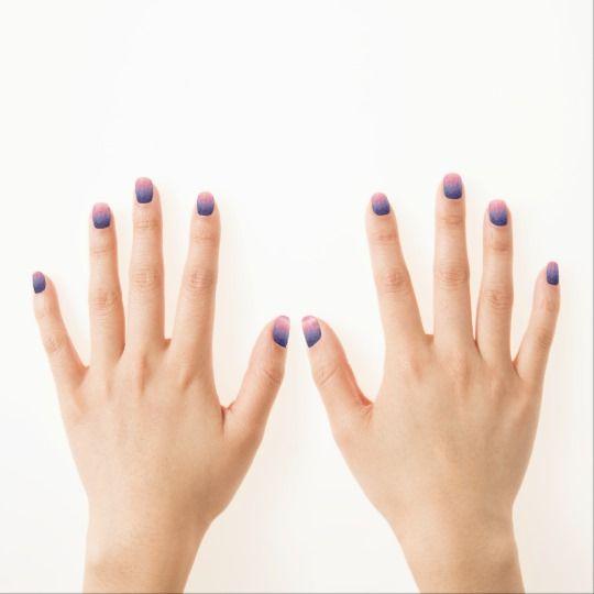 Watercolor Space Nail Art Minx Nail Wraps   #watercolour #watercolor #space #galaxy #universe #stars #painting #cosmos #purple #night #nail #art #manicure #faerieshop