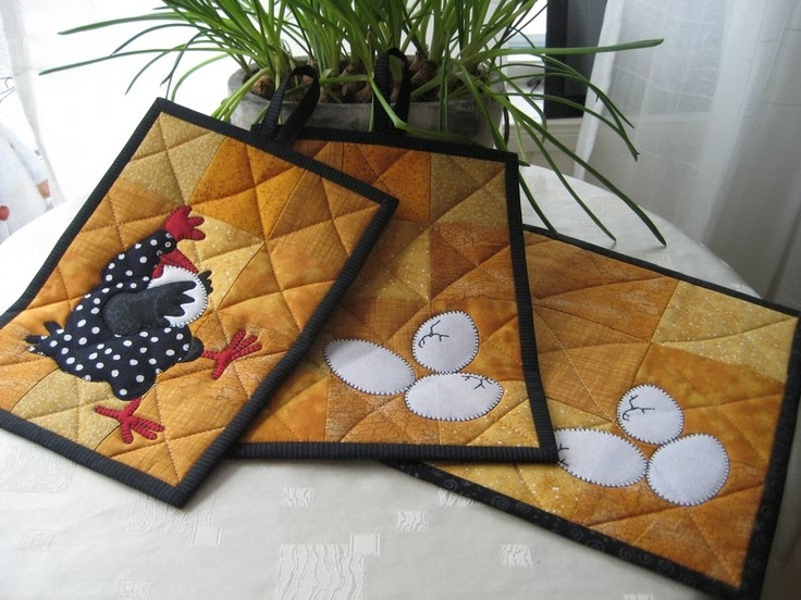 Darling potholders by Anne-Grethe quiltblog: More påskesøm ... / More sewing for Easter