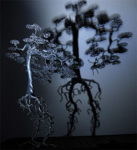Trees made from aluminum wire