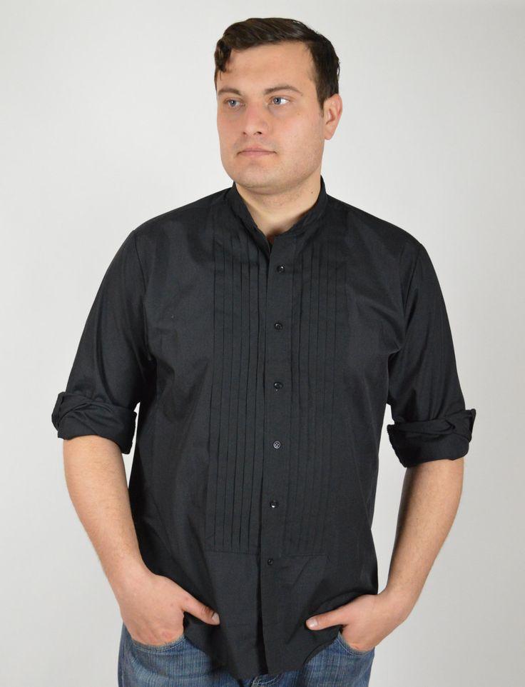 Men's Black Tuxedo Shirt, Vintage Shirt, Black Tux Shirt, Formal Shirt, Groom's Black Tux Shirt, 90's Vintage Shirt, Musician Black Shirt, by BuffaloGalVintage on Etsy