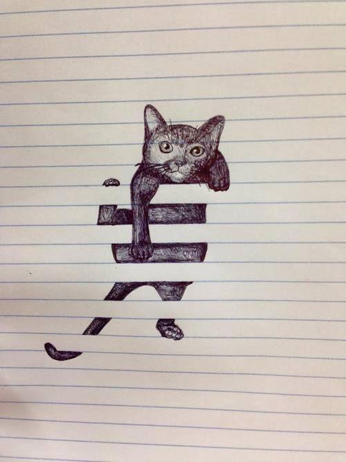 notebook cat illustration