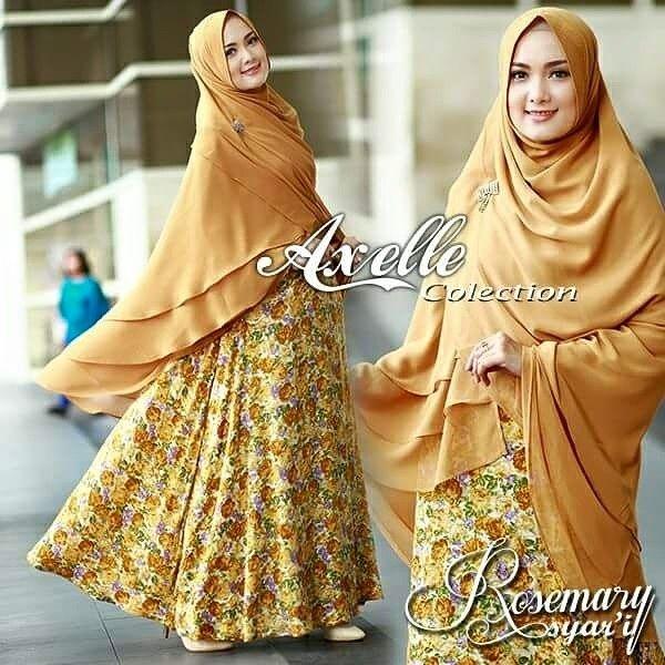 New Women's Long Jilbab Hijab Rosemary syar'i Set Khimar Islamic - Dresses