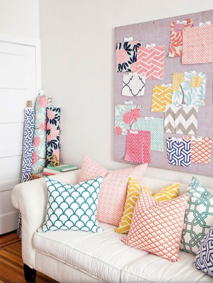 Sunroom colors - Fabrics by Caitlin Wilson Design featured in Matchbook Magazine July 2012