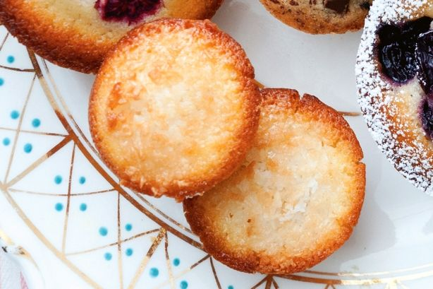 These coconut-topped lemon friands make a great gluten-free treat.