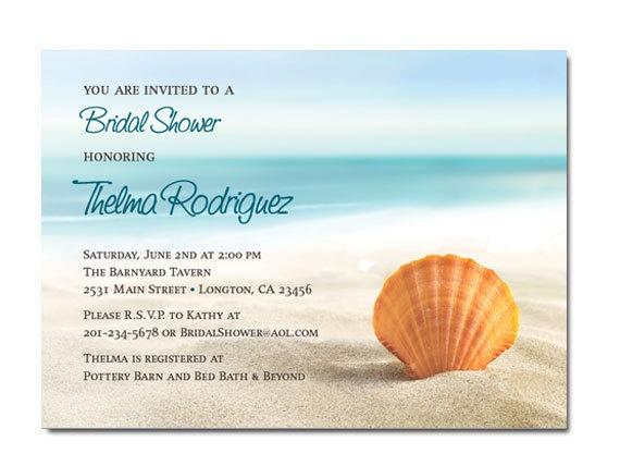Beach Themed Wedding / Bridal Shower Invitations. $12.00