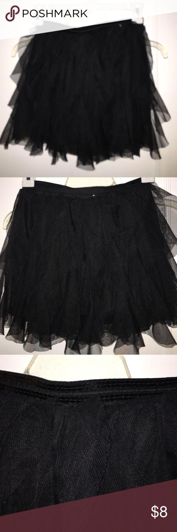 Cute tutu type skirt Black tutu material skirt sequins on the waist band Cherokee Bottoms Skirts