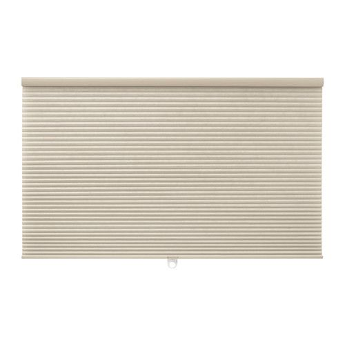 IKEA HOPPVALS Cellular blind Beige 100x155 cm May help you reduce heating costs as the air inside the honeycomb structure creates a layer of insulation.