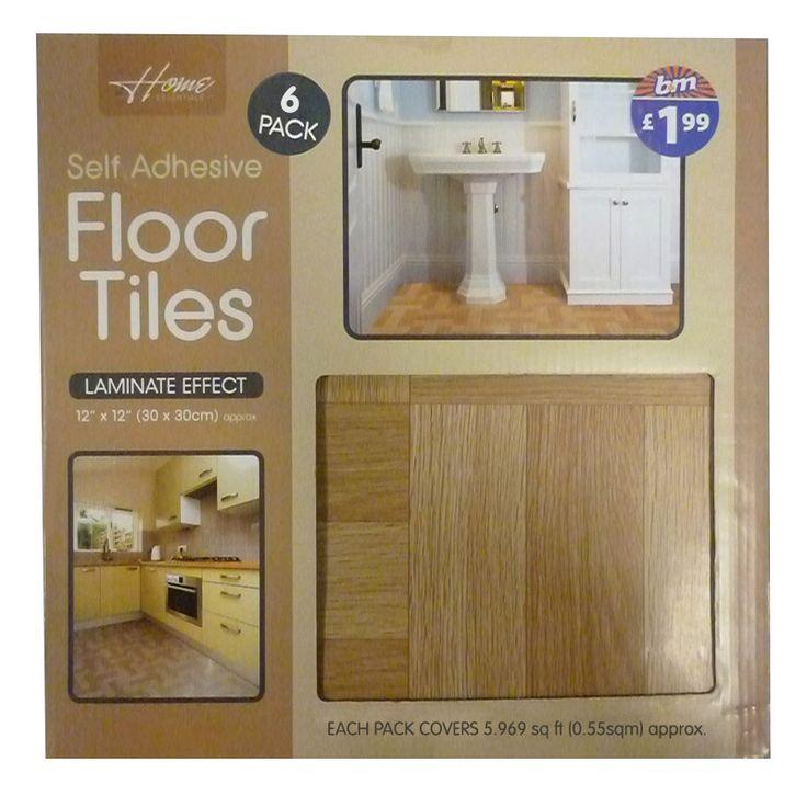 Laminated Vinyl Tiles - self adhesive floor tiles - Laminate Effect