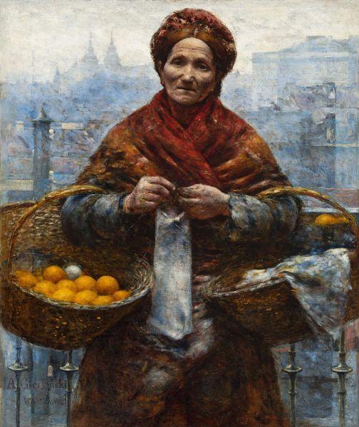 Żydówka z pomarańczami - Aleksander Gierymski