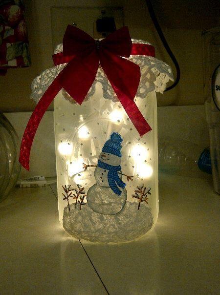 Snowman mason jar #masonjar #snowman