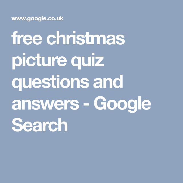free christmas picture quiz questions and answers - Google Search