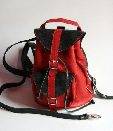 Női bőr hátizsák, több színben - women's bag
