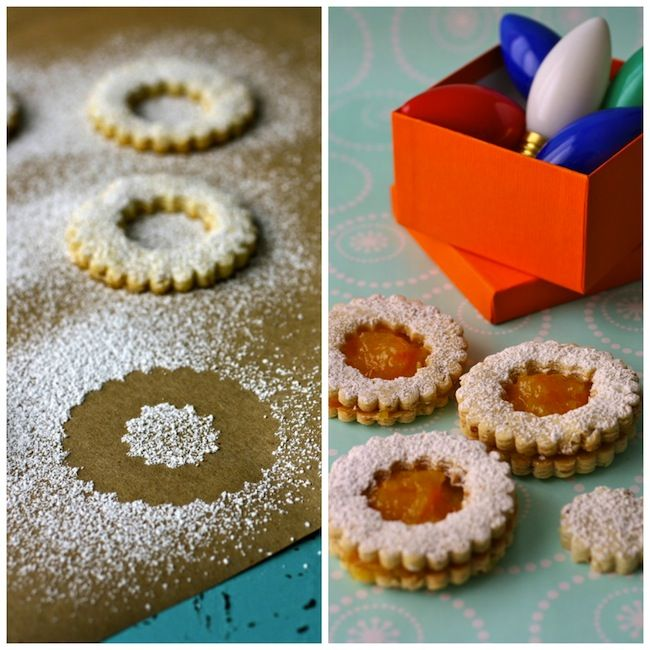 Perfect for the holidays! Linzer Cookies with Homemade Orange Marmalade
