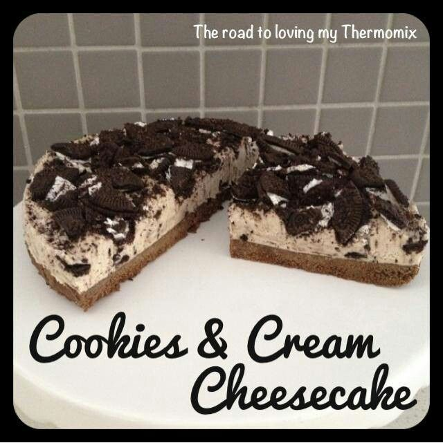 Thermomix cookie and cream cheesecake