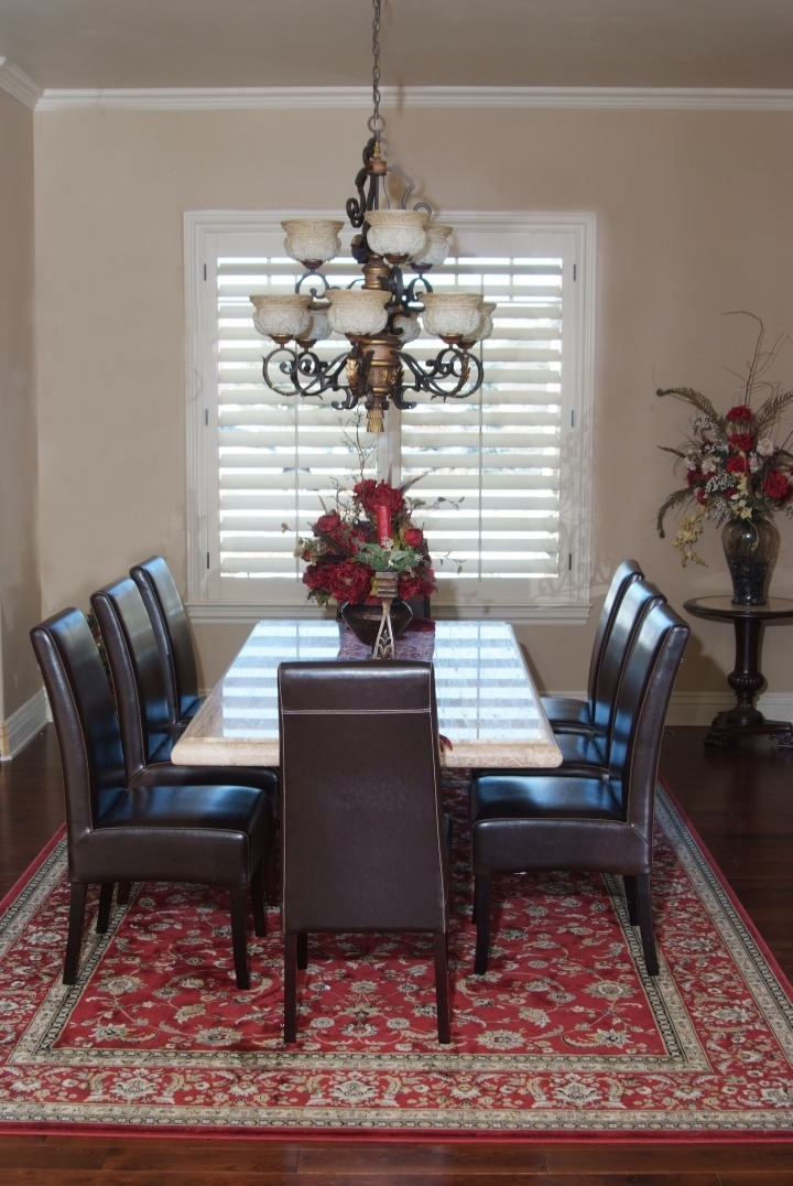 Shutters Keep The Lines Simple For A Formal Dining Room