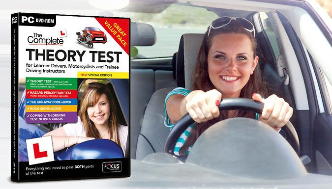 Buy The Complete Theory Test Special Edition including L Plates for just £8.99 Get ready to take on your theory test with The Complete Theory Test Special Edition      Includes learning materials for theory and hazard perception tests      Comprehensive education on all UK road signs      Teaches you about the highway code      Get advice and support on how to deal with pre-test nerves     ...