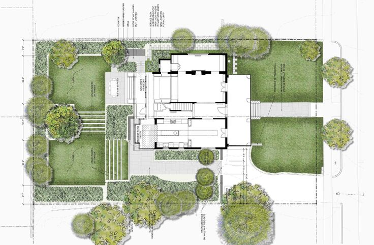 Residence chevy chase md plan rendering by jhla for Landscape plan rendering