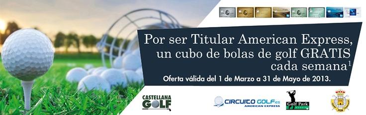 Consigue un cubo de bolas GRATIS por ser Titular de American Express cada semana en el Centro de Tecnificación de la Federación de Madrid o en Golf Park!