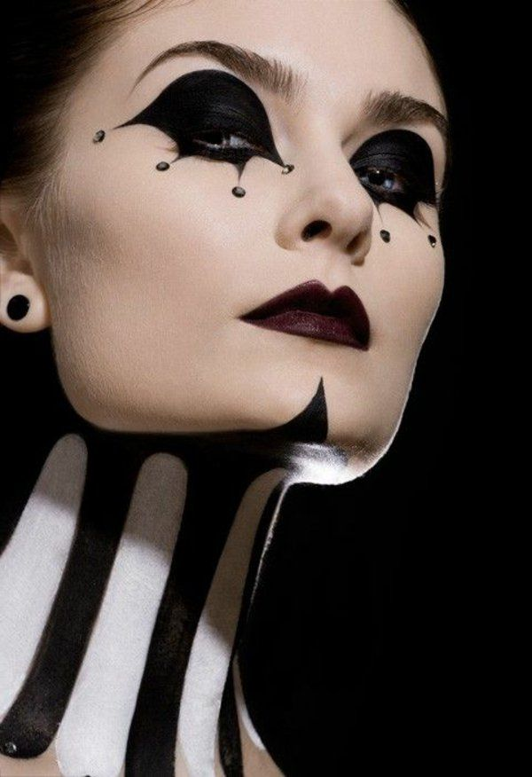 böse königin fasching schminke weiß schwarz