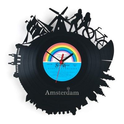 Re_Vinyl Wall Clock Amsterdam (52,50)